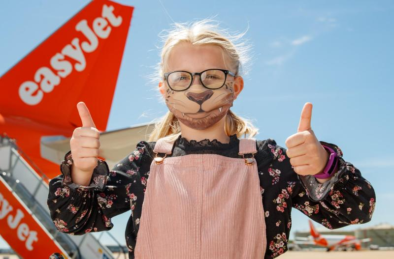 Easyjet face masks branding right during the crisis